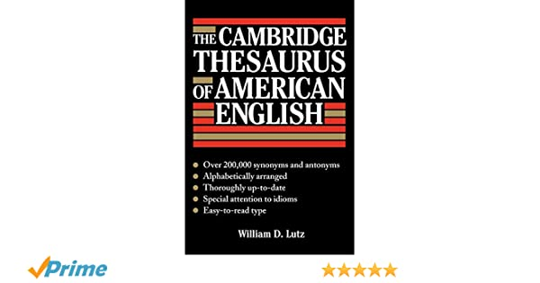 Buy The Cambridge Thesaurus of American English Book Online