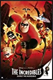 The Incredibles Poster Expect The Incredible (93x62 cm) gerahmt in: Rahmen schwarz