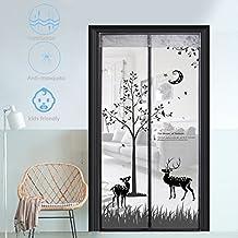 Mosquitera para puerta de rejilla antimosquitos magnético cortina para puerta corredera de puerta para balcón Terrazas