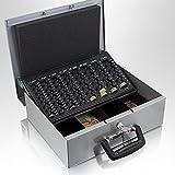 35cm Hellgrau Geldtransportbox Geldkassette Münzzählbrett Zähl- und Transportkassette Münzkassette Geld Kasse Geldkasse Transportbox 350mm
