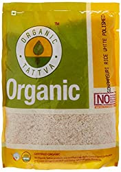 Organic Tattva Sona Masuri Rice White Polished, 1kg