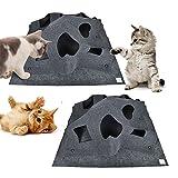 Aolvo Cat Play Matte, interaktiven Spielen Faltbare Haustier Training Kratzern Thermo-Bett Matte–Tolles Geschenk für jede Katze oder andere Haustier
