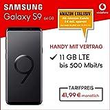 Samsung Galaxy S9 Dual Sim (midnight black) 64GB Speicher Handy mit Vertrag (Vodafone Smart XL) 11GB Datenvolumen 24 Monate Mindestlaufzeit [Exklusiv bei Amazon]