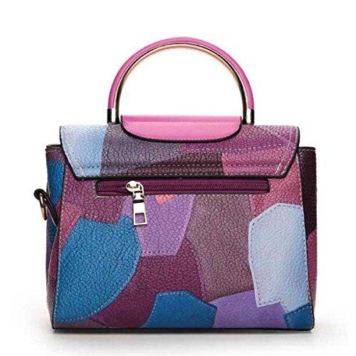 Damenmode Handtasche Einfache Schultertasche Purple