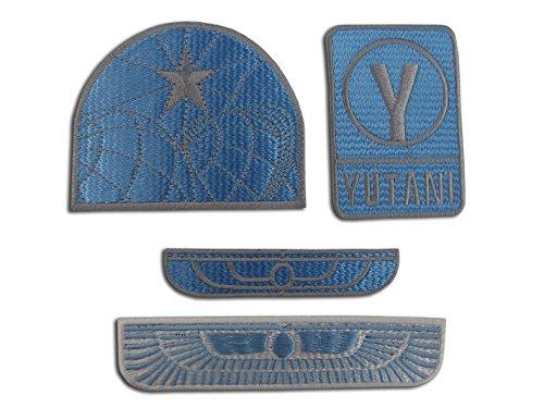 Price comparison product image Alien Movie Weyland Nostromo USCM Colonial Marines Eagle Sew-On Appliqué Emblem Crew Patch set,  4 Iron On Badges ( Alien1004Blue )