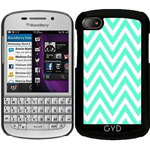 Funda para Blackberry BB Q10 - Menta Zigzag Verde by Djuranne