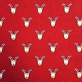 Weihnachten Stoff 100% Baumwolle Rentier Muster mit