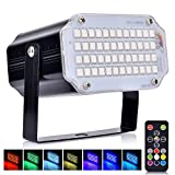 LED Lichteffekt, AUSHEN 48 LED disco licht, party licht mith Fernbedienung, Sprachaktiviertes RGB LED Strobe Lampe für Disco DJ Party Karaoke KTV