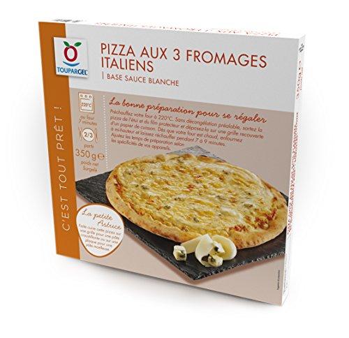 TOUPARGEL - Pizza aux 3 fromages Italiens - 350 g - Surgelé