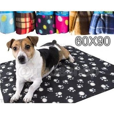 TradeShopTraesio- Coperta Copertina per Animali Cani Gatti Plaid in Pile 60X90 Accessori by TrAdE shop Traesio®