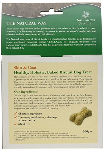 Natural Way Skin & Coat Dog Biscuits, Small Bone Natural Treats 300 g (Pack of 5) 5