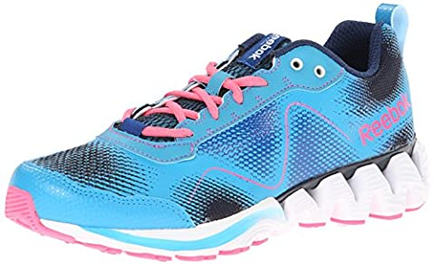 Reebok Zigkick Wild Running Shoe, Flight Blue/Navy/Impact Blue/Solar Pink, 5.5 UK
