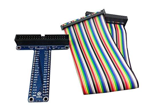 Gaoxing Tech. 40Pin GPIO Verlängerungsbrett + Farbbandkabel für Himbeer Pi B - Brot Board Pi Raspberry