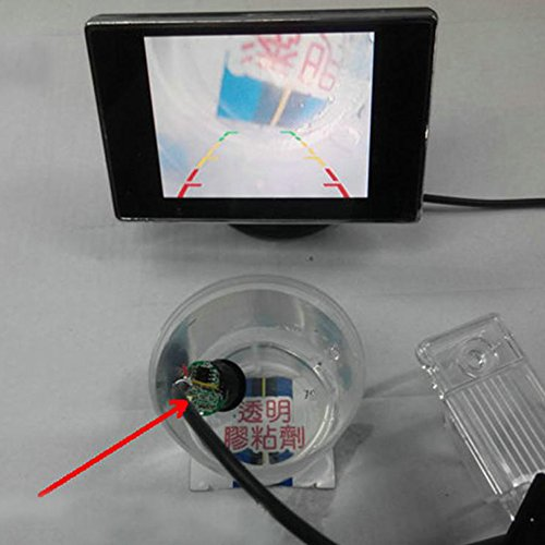 510UrVqYdPL - PolarLander Cámara de visión Trasera de 18.5mm Cámara de Coche HD CCD de Aparcamiento Colorido de Pantalla de Copia de Seguridad inversa NTSC/PAL Impermeable