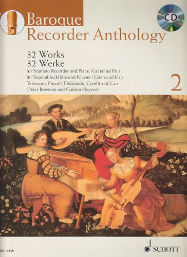 Baroque Recorder Anthology Volume 2 +CD (32 pièces) --- Flûte à bec soprano / Piano (ou Guitare)