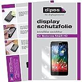 dipos I 2X Schutzfolie klar passend für Motorola Razr HD Folie Bildschirmschutzfolie