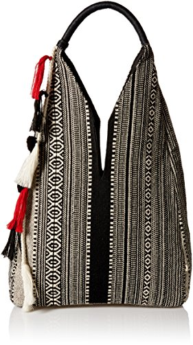 ale-by-alessandra-womens-zuri-tribal-tote-with-pom-and-tassel-black-white-one-size