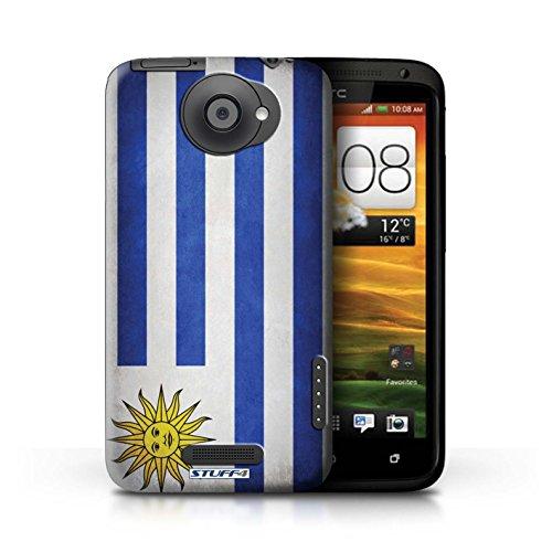 Kobalt® Imprimé Etui / Coque pour HTC One X / Pays de Galles/gallois conception / Série Drapeau Uruguay/Uruguayen