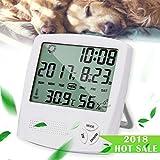 HUABEI LCD Digital Thermomètre Hygrometre Interieur, Thermo-hygromètre Électronique, Thermomètre Hygrometre Numérique sans Fil, Thermomètre Chambre Bébé, Portable Taille Blanc