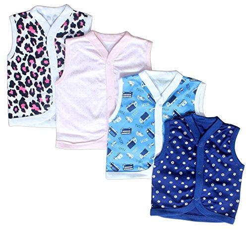 Baby Station Sleeveless Vest-Jhabla-Set Of 4 (3-6 months)
