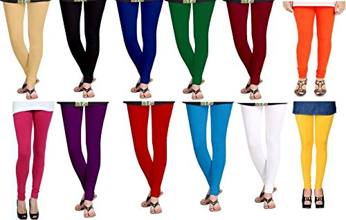 Devaas Multicolor leggings for Womens Free Size Pack Of 12 Combo Offer...