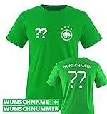 TRIKOT - DE - WUNSCHDRUCK - Kinder T-Shirt - Grün / Weiss Gr. 110-116