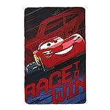 Disney Cars Lightning McQueen Race to win Polar Fleece Decke, Polyester, mehrfarbig, Single
