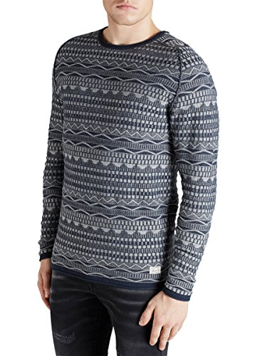 JACK JONES - Homme sweater regular fit darryl knit crew neck Light Blue
