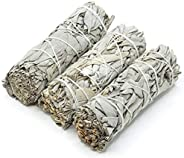 White Sage Bundles - (3 Pack) - Sage Smudge Stick for Home Cleansing Incense Healing Meditation and California