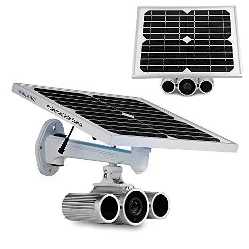 Überwachungskamera mit Akku 1080P H.264 8mm Objektiv Wasserdicht Wireless Night Vision Bewegungserkennung IR15m P2P Überwachung ()