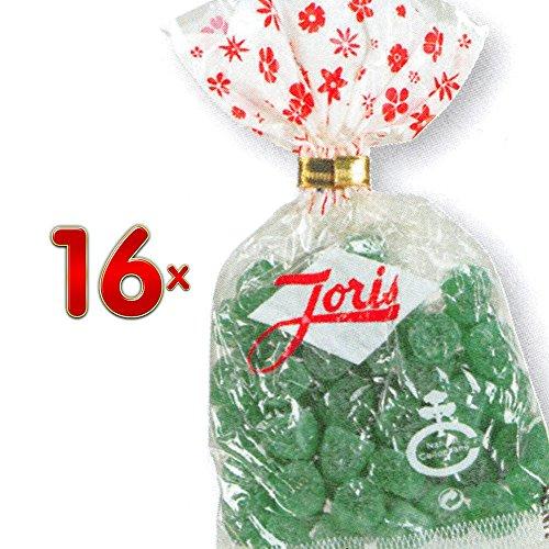 Joris Gommes Vertes 16 x 100g Packung (Weingummi mit Eucalyptus und Menthol)