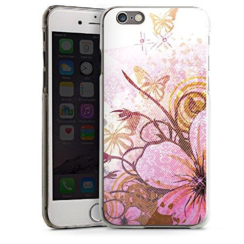 Apple iPhone 4 Housse Étui Silicone Coque Protection Papillon Fleur Fleur CasDur transparent