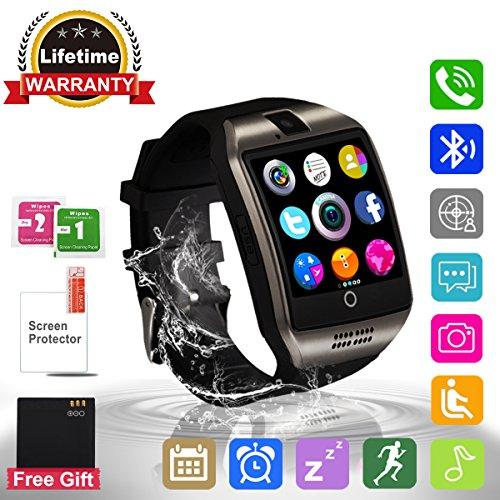 Montre Connectée, Bluetooth Sport Etanche Smartwatch Soutien SIM/TF Carte avec Caméra Ecran Tactile Pédomètre Moniteur de Sommeil Bracelet pour Samsung Huawei Android iPhone ios Femme Homme Enfant