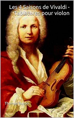 Couverture du livre Les 4 Saisons de Vivaldi - Tablatures pour violon