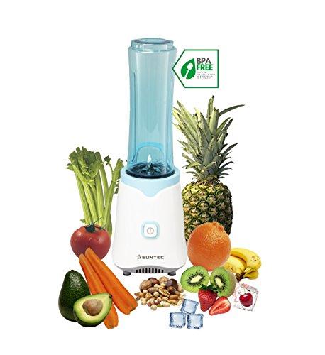 SUNTEC Smoothie Maker SMO-9943 [Inkl. 2 Sportflaschen à 600 ml, auch für Eis geeignet, NEU: max. 350 Watt]