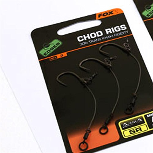 Fox Edges Ready tied Chod Rig con SR carpa gancio + anello vortice, 7