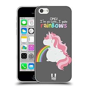 Head Case Designs Licorne Arc-En-Ciel Vomi Étui Coque En Gel Pour Apple iPhone 5c