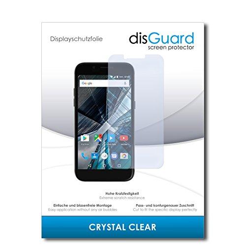 disGuard® Bildschirmschutzfolie [Crystal Clear] kompatibel mit Archos 50 Graphite [3 Stück] Kristallklar, Transparent, Unsichtbar, Extrem Kratzfest, Anti-Fingerabdruck - Panzerglas Folie, Schutzfolie