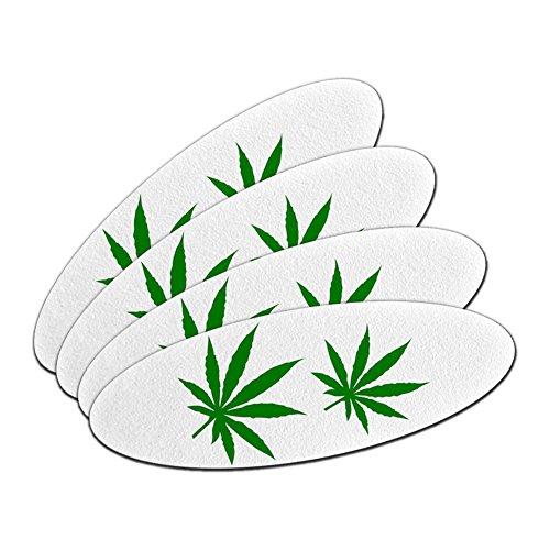 Marijuana Leaf Blätter–Topf Weed doppelseitig oval Nagelfeile Emery Board 4Stück