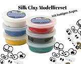 Silk Clay raison Peinture avec feuilles décoratives 10Yeux de créatif Modélisation Kit