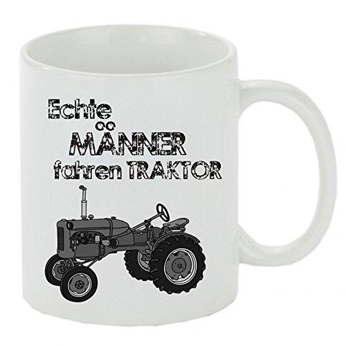 """Kaffeebecher \"""" Echte Männer fahren Traktor \"""" Kaffeetasse mit Motiv, bedruckte Tasse mit Sprüchen oder Bildern - auch individuelle Gestaltung"""