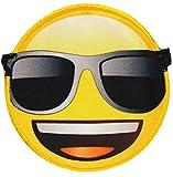 alles-meine.de GmbH 3 Stück _ Bügelbilder -  Emoji - mit Sonnenbrille - Brille  - 6,8 cm * 6,6 ..