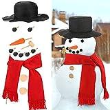 SunTop 13 Pezzi Pupazzo di Decorazione Kit per Vestire il Fantoccio di Neve Creazione Costruzione Set per Divertimento all'Aperto Festa Invernale Vacanza Regalo di Craft