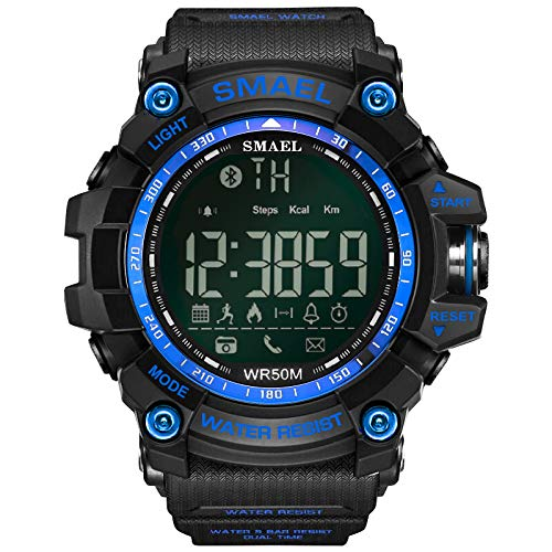 UINGKID Collection Unisex-Armbanduhr Herren Uhren Ultra Dünne SMAEL Fashion Herren Smart Watch Bluetooth Digital Sport Armbanduhr Wasserdicht