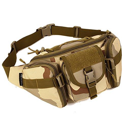 Tactical Waist Pack tragbar Fanny Pack Outdoor Army Hüfttasche Military Taille Pack für Radfahren Camping Wandern Jagd Angeln Desert Camouflage