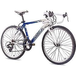 Unbekannt '24De Course jeunesse de vélo KCP Runny en aluminium avec 14g Shimano Blanc Bleu-61cm (24pouces)