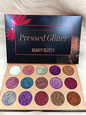 Beauty Glzaed Glitter Make-up Powder Metallic Shimmer Eye Shadow Palette Highly Pigmented Mineral Cosmetic Makeup Eyeshadow from Beauty Glzaed