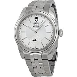 Tudor Glamour Mecánica Plata Dial Acero inoxidable Acero Reloj 57000-SVSS