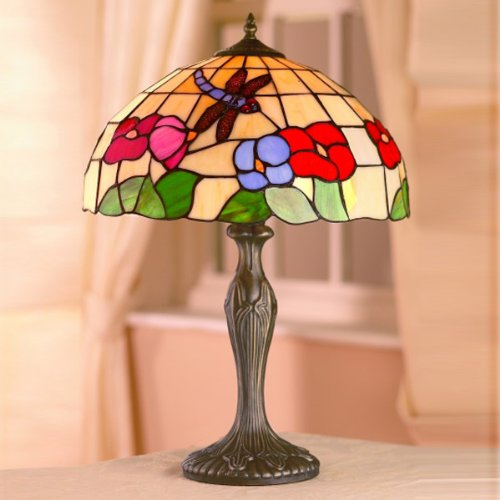 large-dragonfly-floral-tiffany-shade-antique-brass-base-table-lamp-beige-multi-40-cms