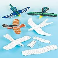 Baker Ross Pájaros Planeadores Perfectos como Relleno de Piñata Premios y Regalos de Fiestas Infantiles (Pack de 6)